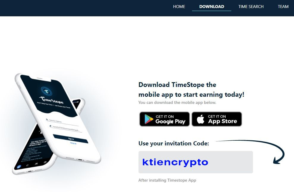 Hướng dẫn tải ứng dụng TimeStope
