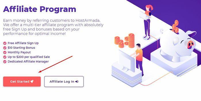 Đăng ký tài khoản Affiliate HostArmada Program | Cách kiếm tiền với HostArmada Affiliate