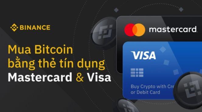 Mua bitcoin bằng master card trên Binance