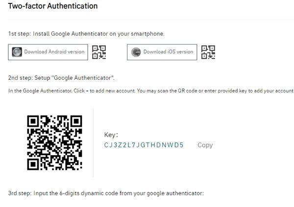 Xác nhận 2FA tài khoản gate.io