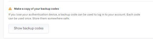 Hướng dẫn sàn Coinlist - Backup codes