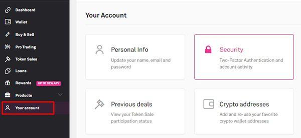 Hướng dẫn sàn Coinlist - Bảo mật tài khoản Coinlist