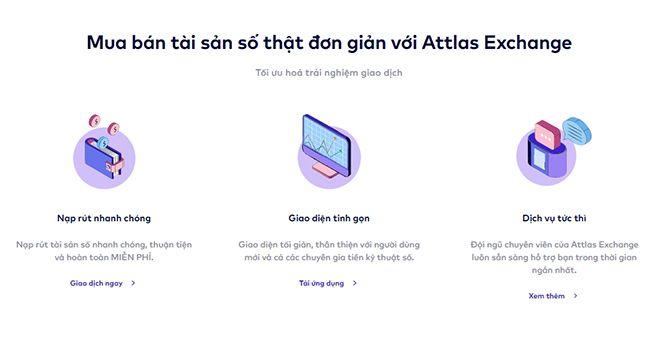 Ưu điểm của sàn Attlas Exchange