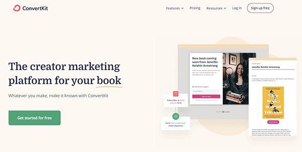 Danh sách 7 dịch vụ Email Marketing tốt nhất - Convertkit