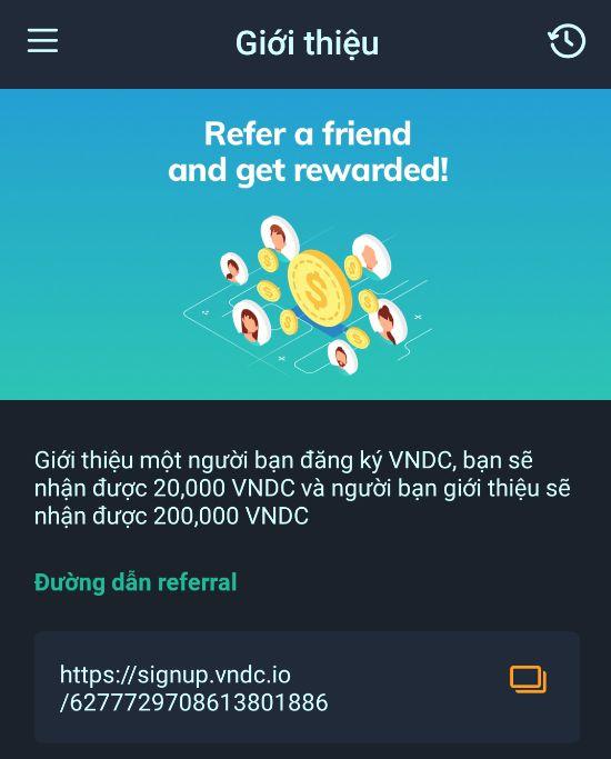 Kiếm tiền sàn VNDC - Giới thiệu bạn bè