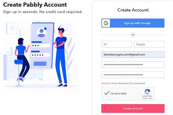 Hướng dẫn đăng ký tài khoản Pabbly