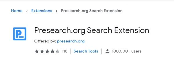 Presearch-extension